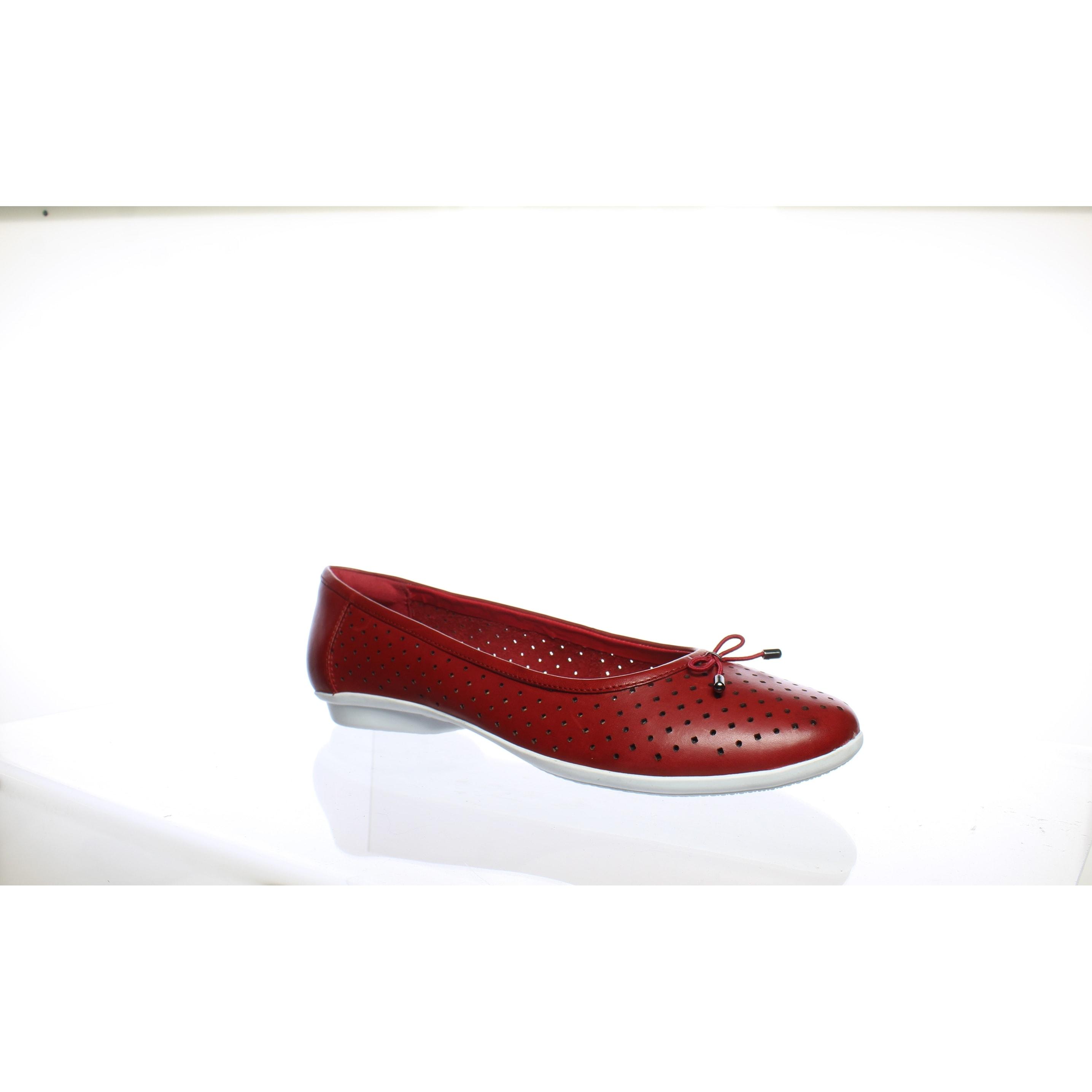 b074790c848 Shop Clarks Womens Gracelin Lea Red Leather Ballet Flats Size 11 ...