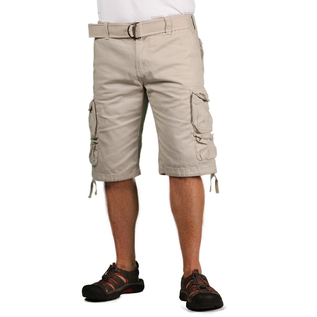 2d73736dcb14 Shop Gray Earth Men s Classic Cargo Shorts - On Sale - Free Shipping ...