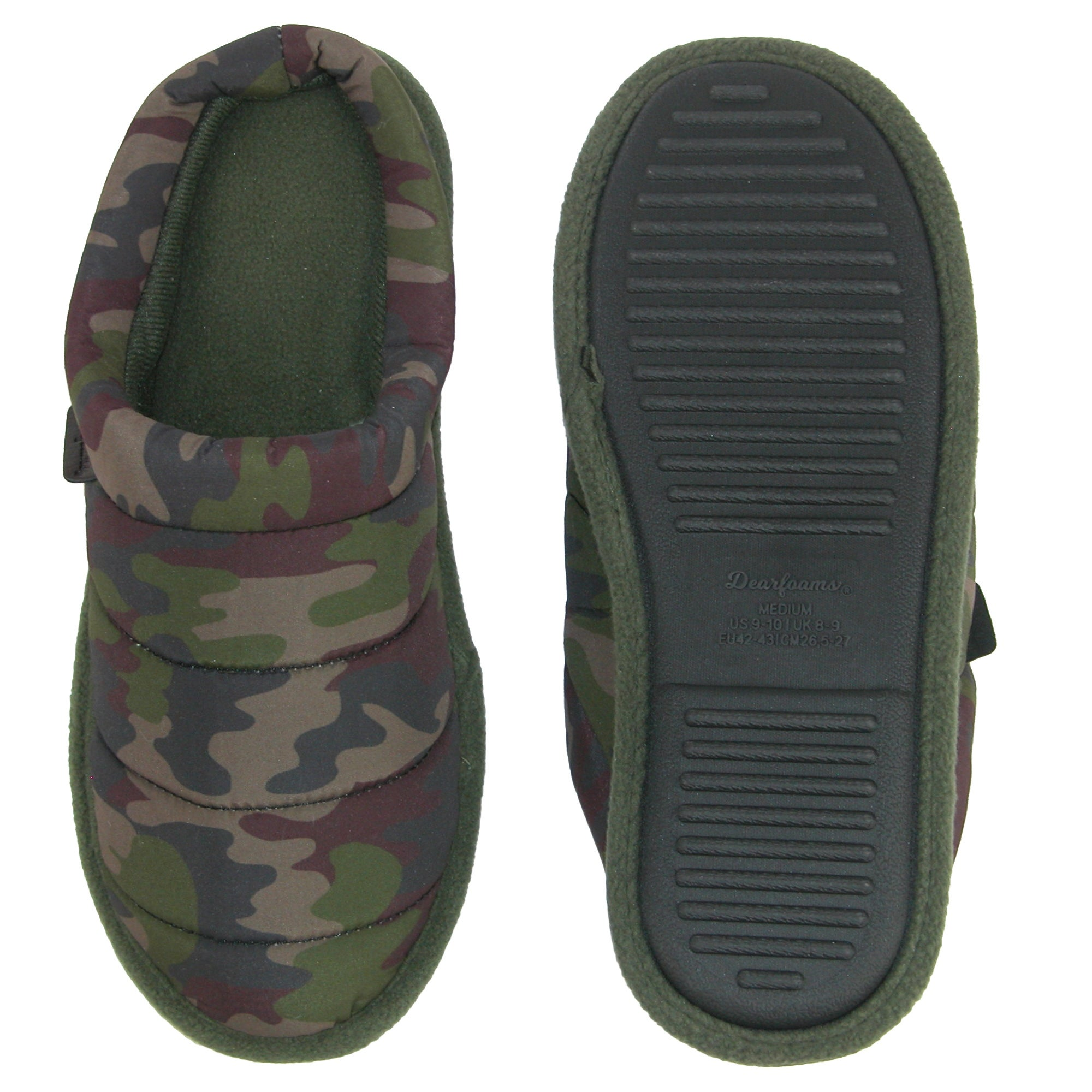 b52433271e779 Shop Dearfoams Men's Camouflage Quilted Clog Slipper with Memory Foam -  Free Shipping On Orders Over $45 - Overstock - 18753408