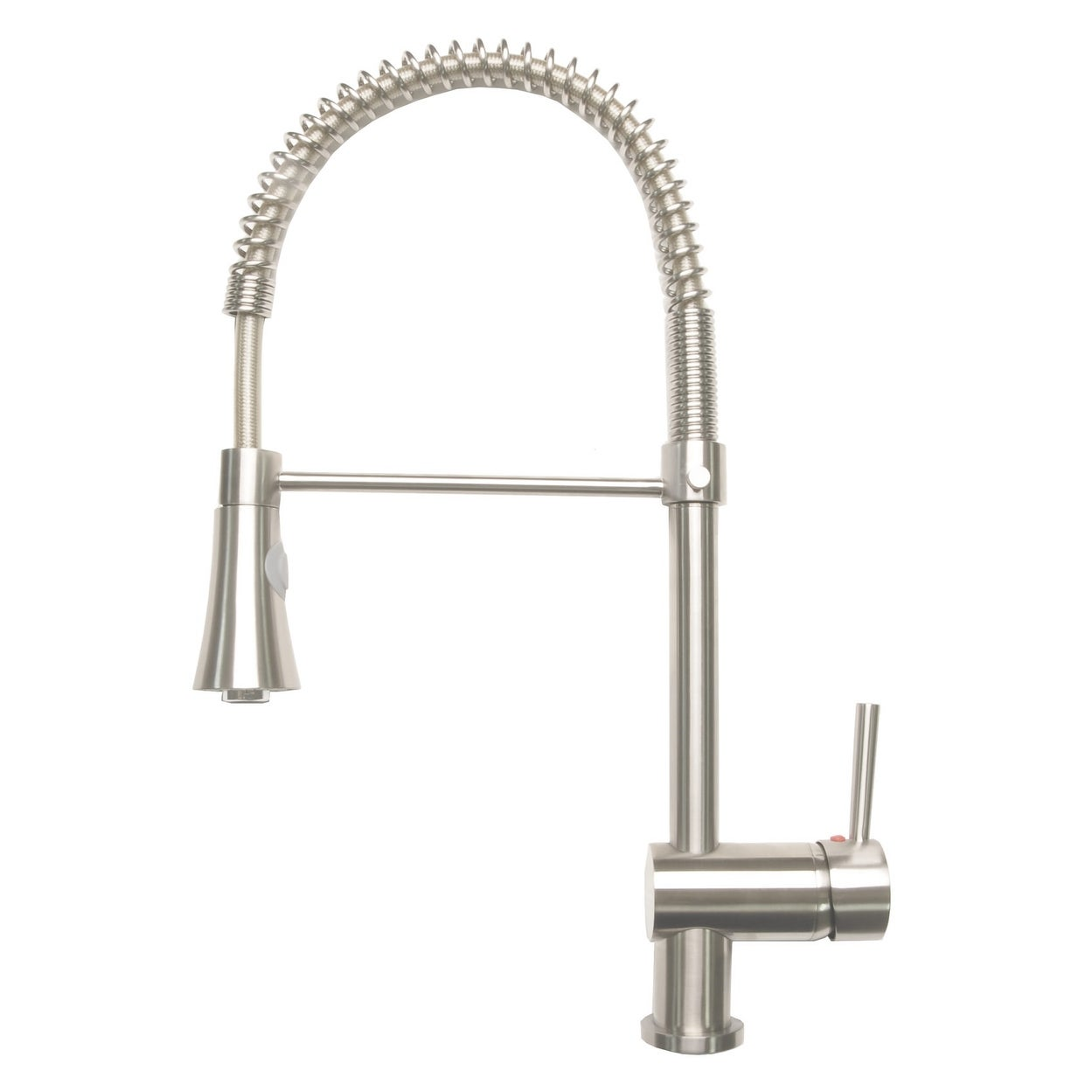 coiled down faucet kitchen ashford faucets front pull outdoor single spout stainless hole with spring