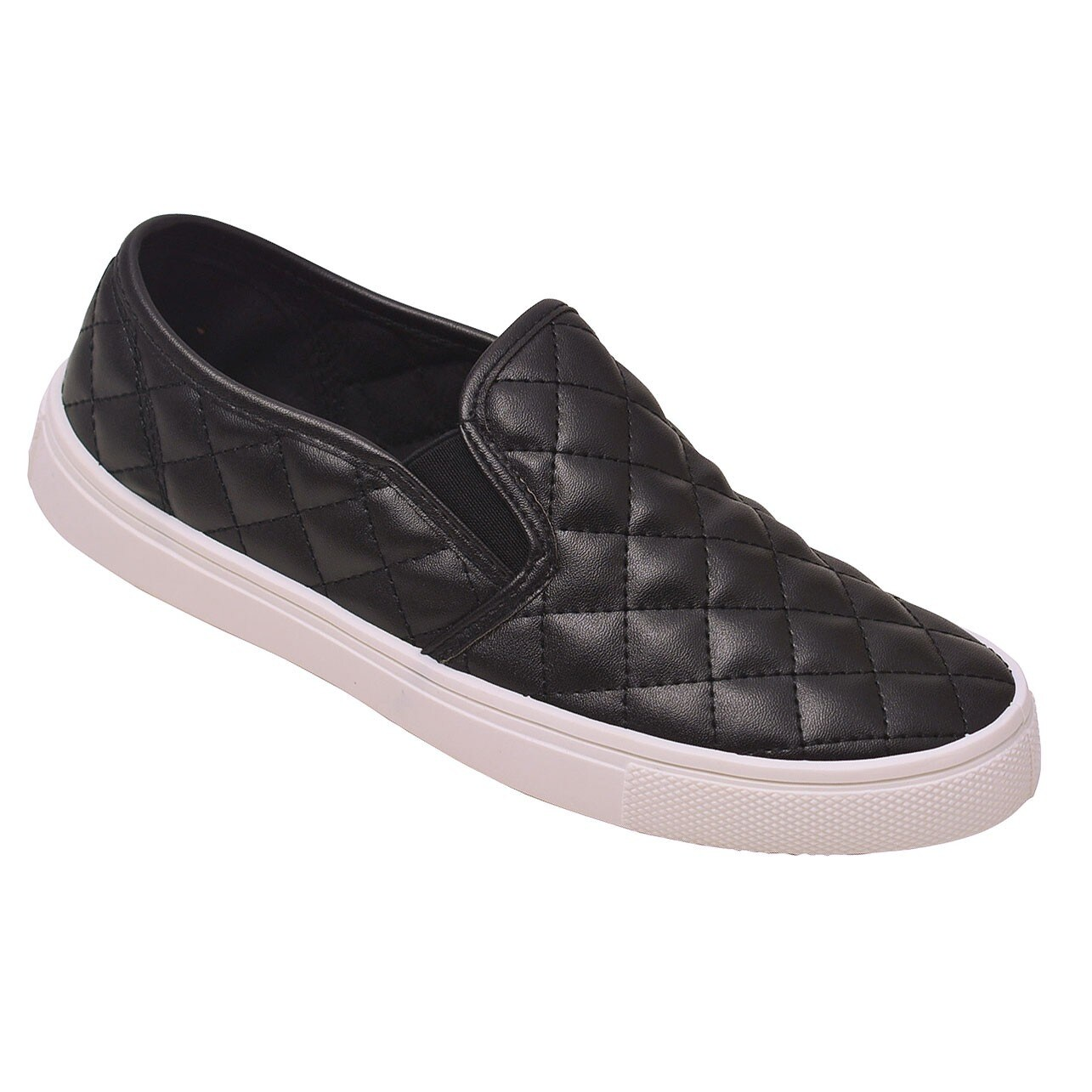 db2dd2d9957 Shop Weeboo Adult Black Quilted Stitch Pattern Laceless Sneakers - Free  Shipping On Orders Over  45 - Overstock - 23540168