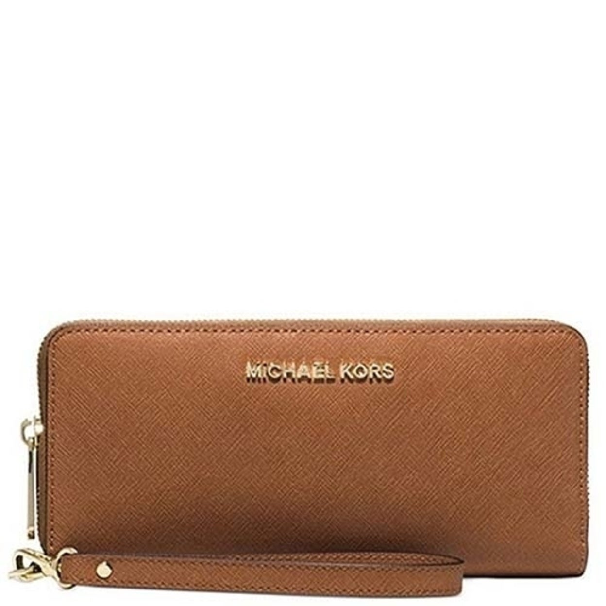 e18142c31f83 Shop Michael Michael Kors Jet Set Travel Travel Continental Saffiano  Leather 18K - Free Shipping Today - Overstock - 23119354