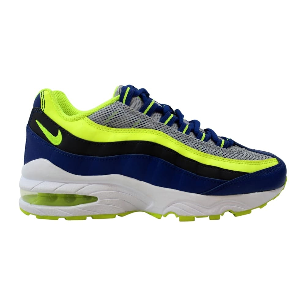 b82a28c345 Shop Nike Air Max '95 Wolf Grey/Volt-Gym Blue-White 307565-084 Grade-School  - Free Shipping Today - Overstock - 27993550