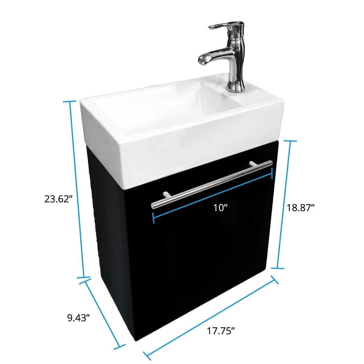 Renovator S Supply Small Wall Mount Bathroom Vanity Cabinet Sink Faucet Drain