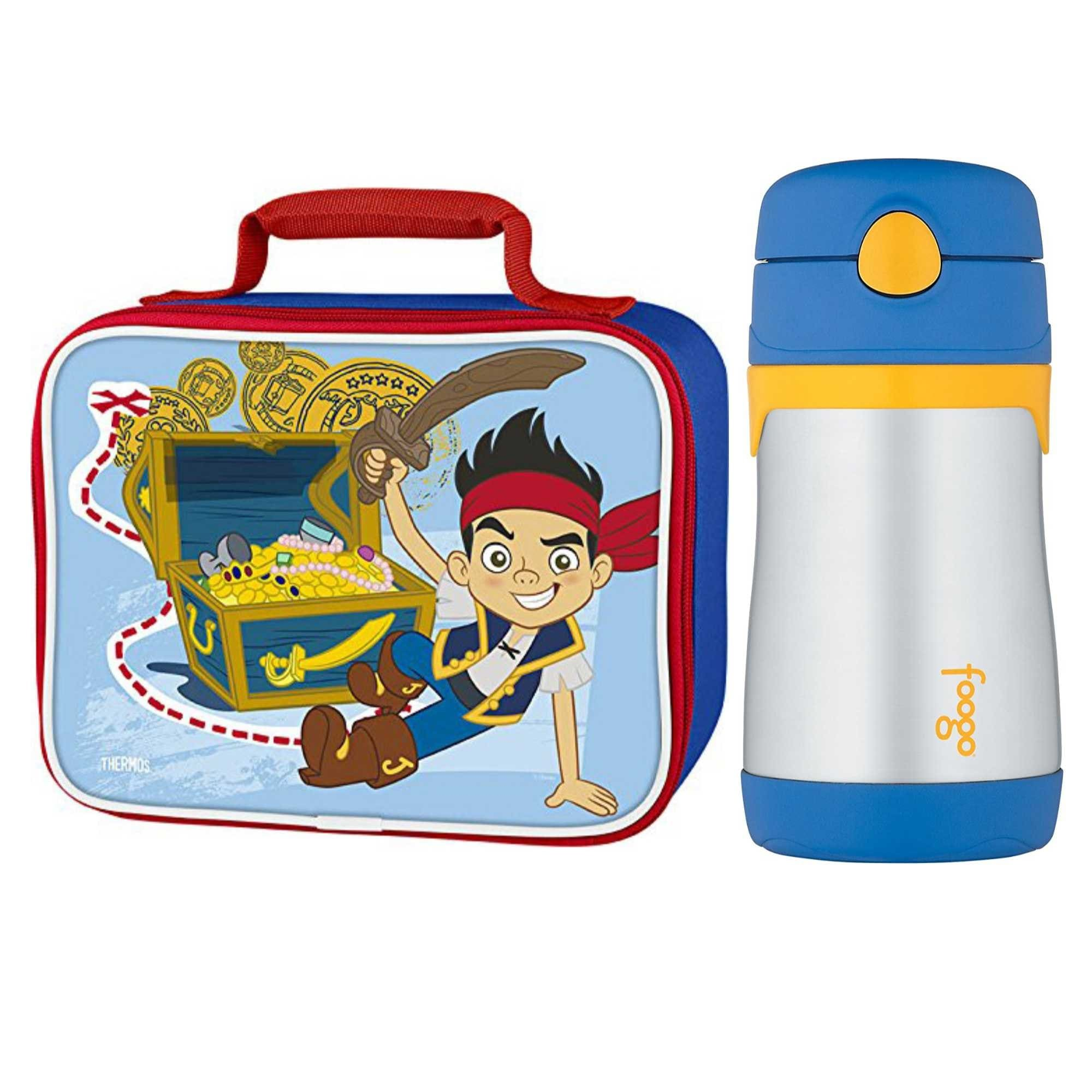 0cb5e33ff9d Shop Thermos Soft Lunch Kit w  10oz Straw Bottle (Jake and the Neverland  Pirates) - Free Shipping On Orders Over  45 - Overstock.com - 19628105