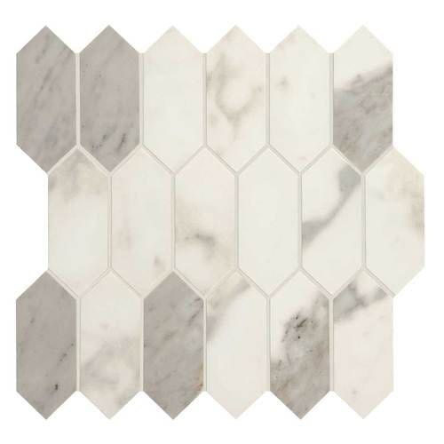 Shop Daltile Ma825hexmsmtp Marble Attache 5 X 2 Linear Hexagon