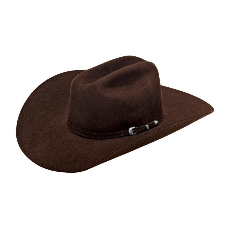 e3dce22c4e091 Shop Ariat Western Cowboy Hat Adult 3X Wool Leather Band Cattleman - Free  Shipping Today - Overstock - 20445671