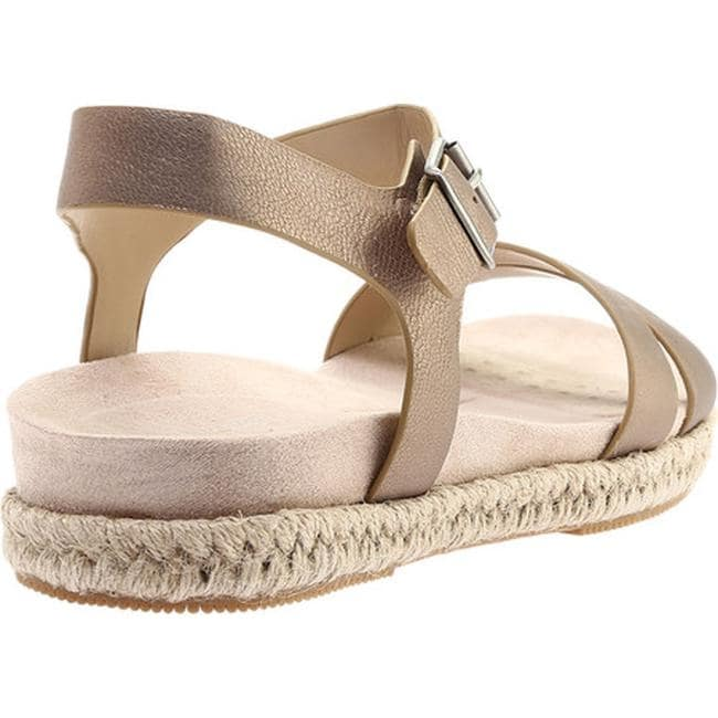 bb5e947fcdb Shop Easy Spirit Women s Ixia Ankle Strap Espadrille Bronze Leather - Free  Shipping On Orders Over  45 - Overstock - 20997688