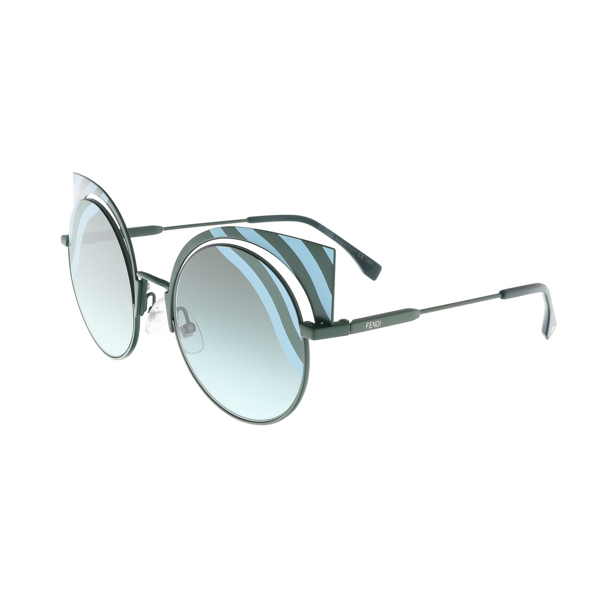 7f61ec79a20e Shop Fendi FF 0215 S 00KC Hypnoshine Matte Blue Cateye Sunglasses - Free  Shipping Today - Overstock.com - 16790929