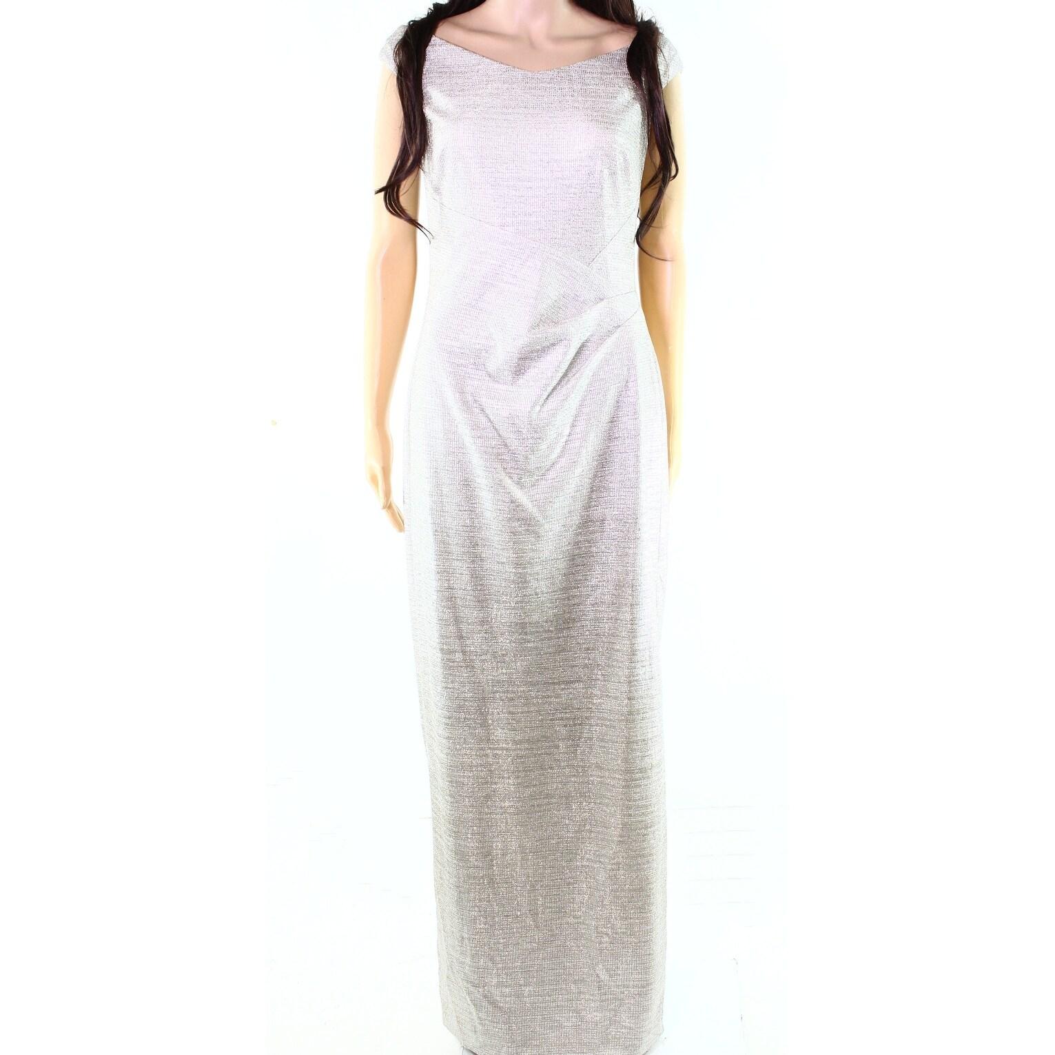 Lauren Ralph Lauren NEW Silver Metallic Women\'s Size 18 Ball Gown ...
