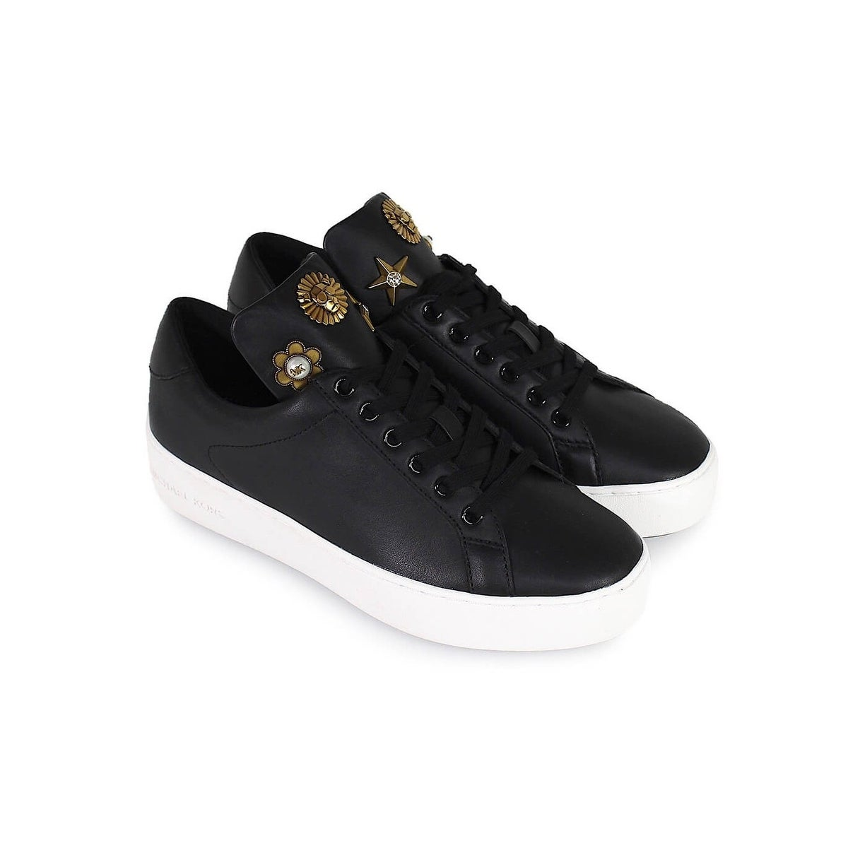 c745bceb417 Shop Michael Kors Womens Mindy lace up Leather Low Top Lace Up Fashion  Sneakers - Free Shipping Today - Overstock - 27567736