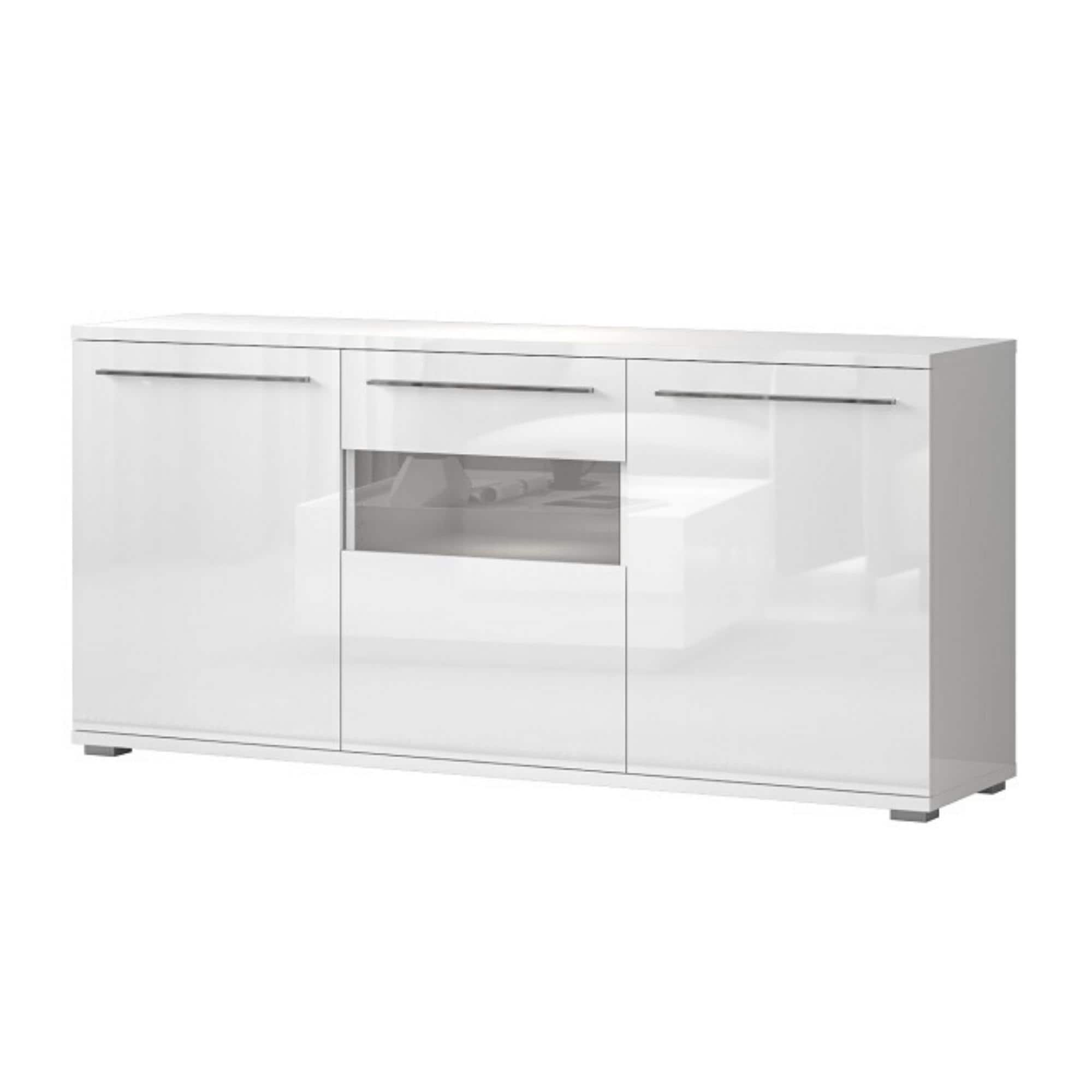 Shop Piano 3 Cabinet High Gloss Sideboard White Or Beige Options Available Overstock 32061943
