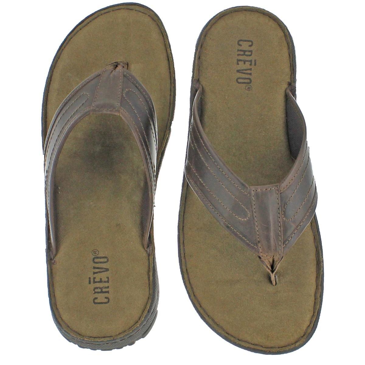 046dfc5b8298 Shop Crevo Mens Matteo Flip-Flops Leather Memory Foam - 13 Medium (D) - Free  Shipping On Orders Over  45 - Overstock - 23980800