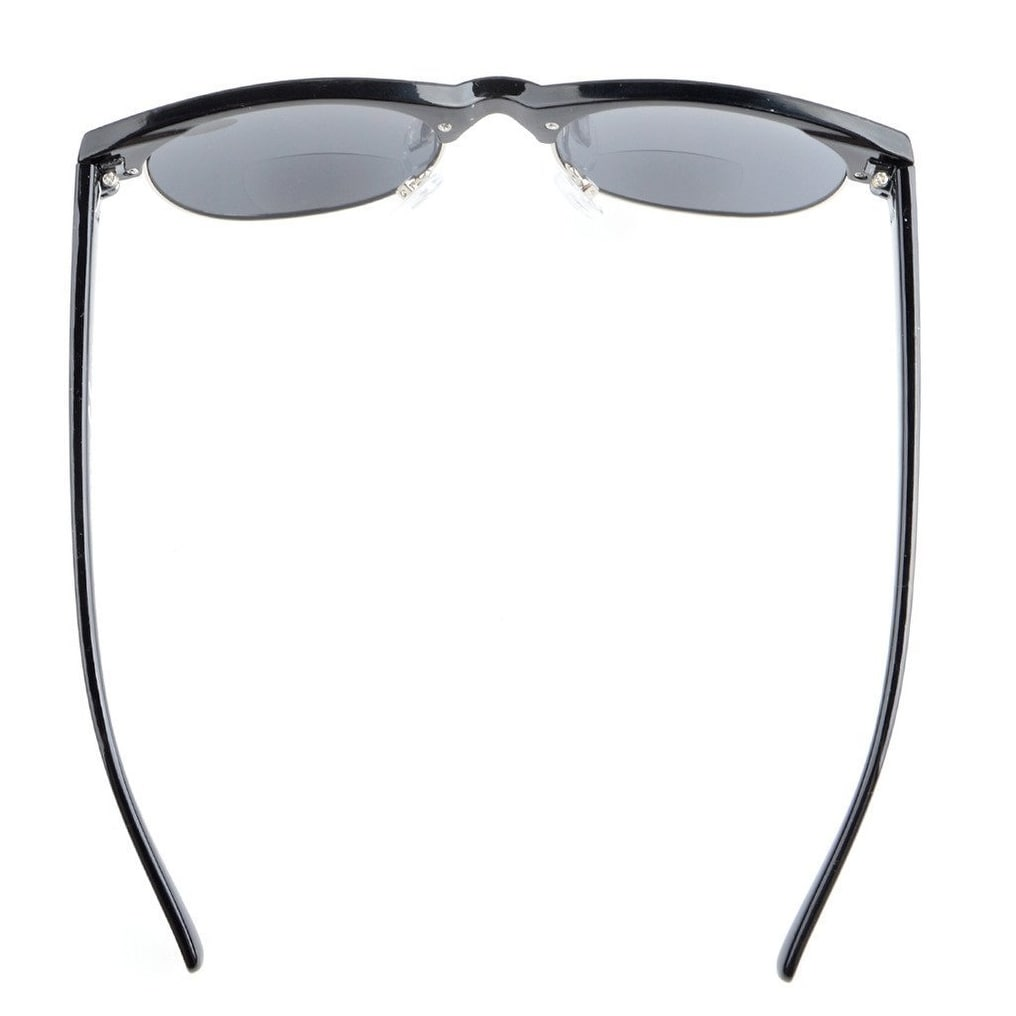 bb368a14153 Shop Eyekepper Retro Oval Round Half Semi-Rimless Bifocal Sunglassess Black  +2.5 - Free Shipping On Orders Over  45 - Overstock.com - 16023573