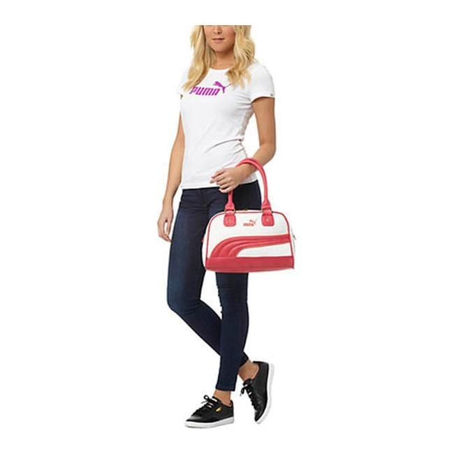 1fbb81f7a3 Shop PUMA Women s Foundation Handbag White Pink - US Women s One Size (Size  None) - Free Shipping Today - Overstock - 11818034