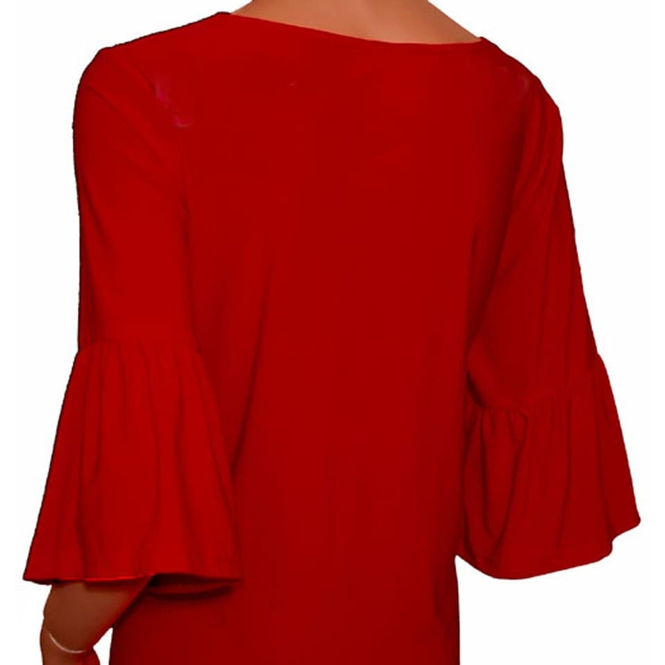 6f56f30a752 Shop Funfash Plus Size Red Womens Empire Waist Slimming Top Shirt Blouse -  Ships To Canada - Overstock - 12174556