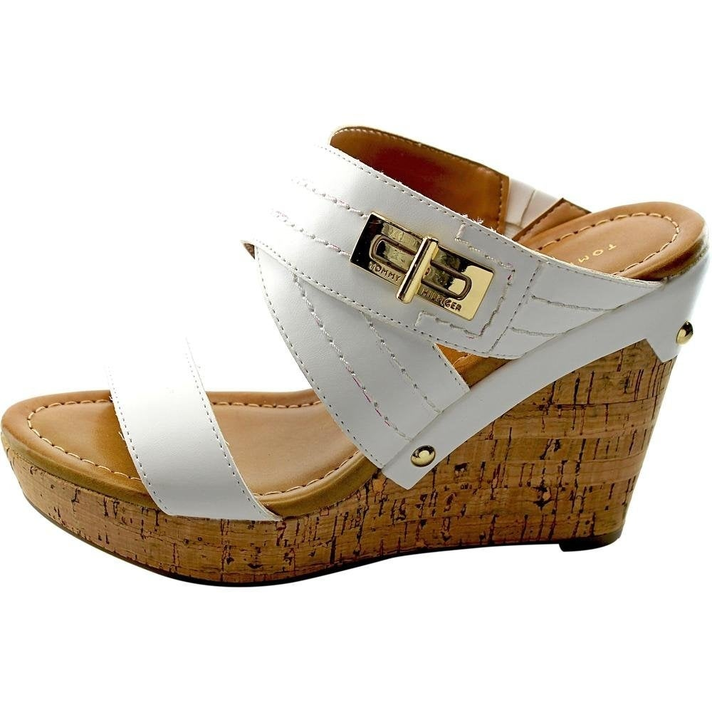 7887f09f696e Shop Tommy Hilfiger Womens Mili2 Open Toe Wedge Pumps - Free Shipping On  Orders Over  45 - Overstock - 14536698