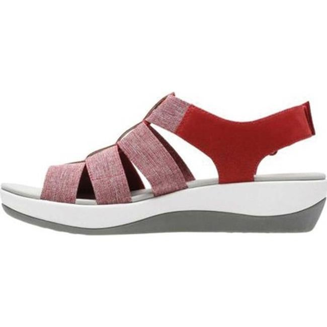 9fc8cca629e8 Shop Clarks Women s Arla Shaylie Slingback Red White Heathered Elastic -  Free Shipping Today - Overstock.com - 20590084