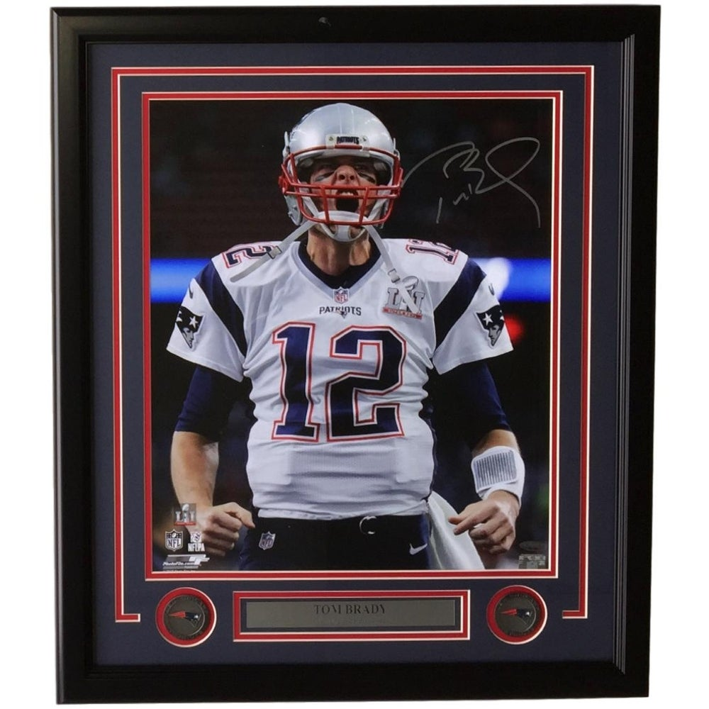 7358950ca95 Shop Tom Brady Signed Framed 16x20 NE Patriots Super Bowl LI Scream Photo  Tristar - Free Shipping Today - Overstock - 15267385