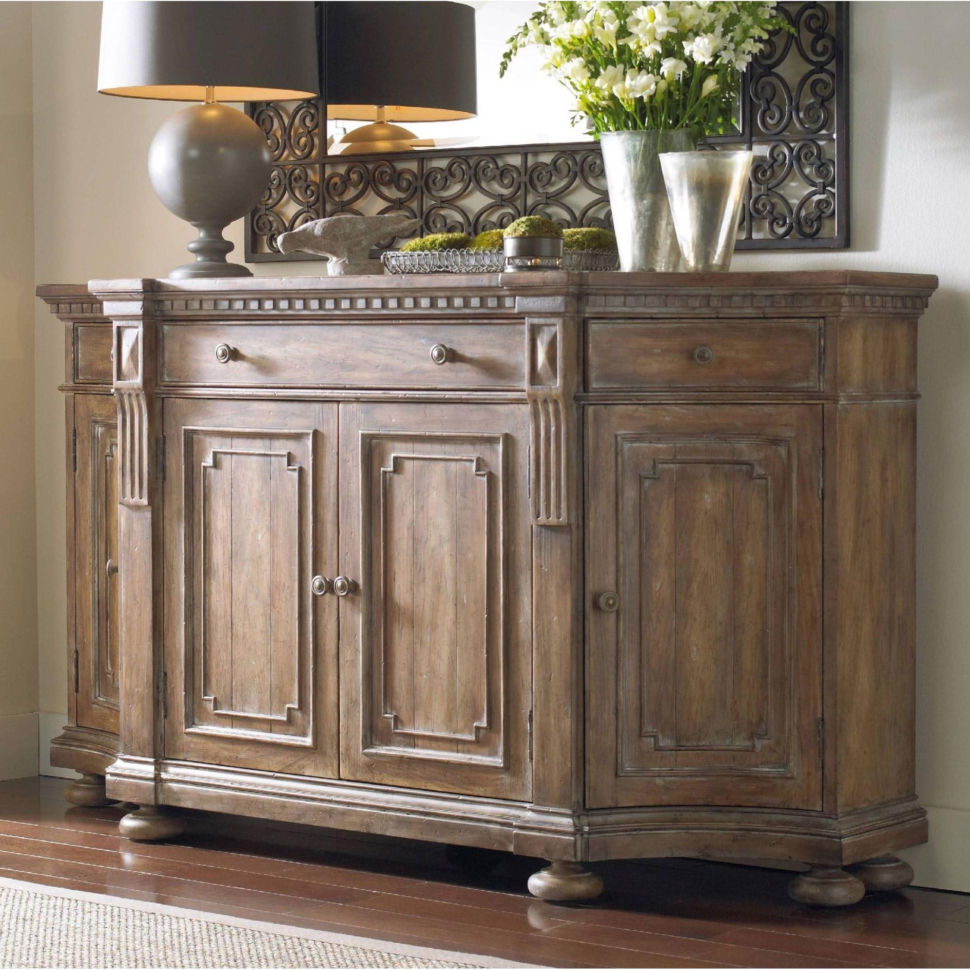Shop Hooker Furniture 5107 85001 72 Wide Hardwood Cabinet From The