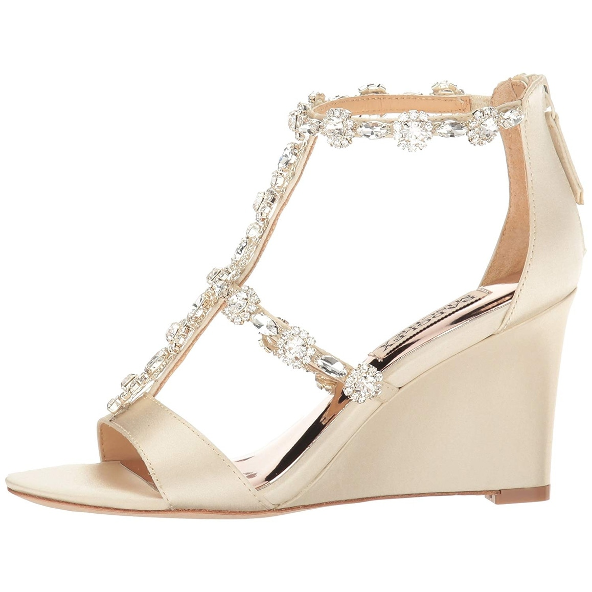4a3bc5973b0 Shop Badgley Mischka Women s Tabby Wedge Sandal - Free Shipping Today -  Overstock - 25457831
