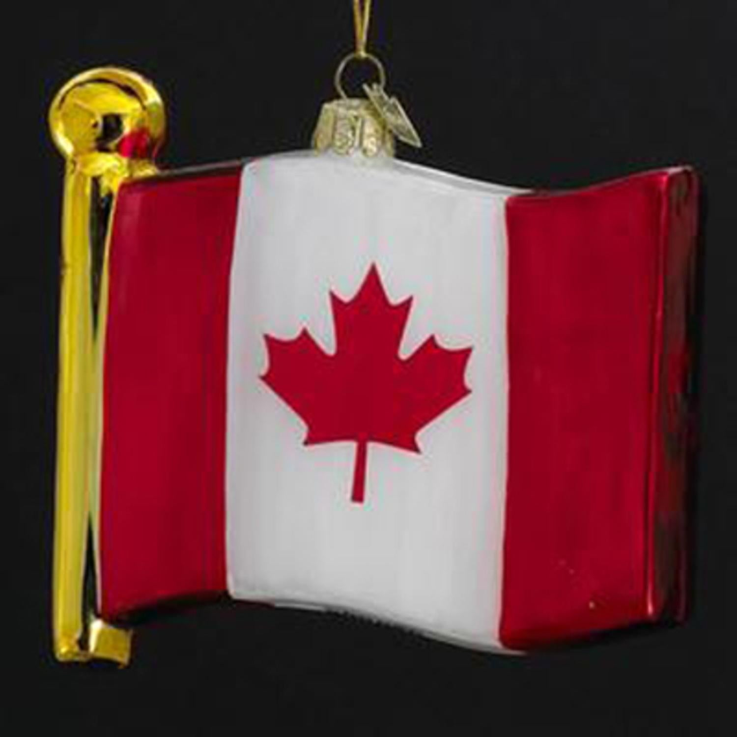 Shop Pack of 4 Novelty Glass Flag of Canada Hand Blown Glass ...