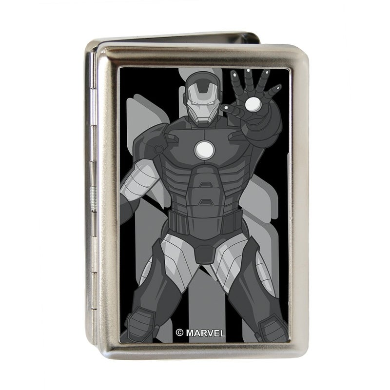 Iron Man Repulsor Pose Brushed Silver Business Card Holder - Free ...