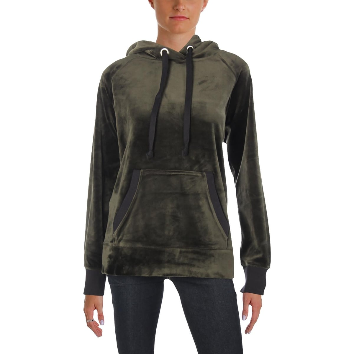 e66e09c075b3 Shop Juicy Couture Black Label Womens Sweatshirt Velour Hooded - Free  Shipping On Orders Over $45 - Overstock - 25448601