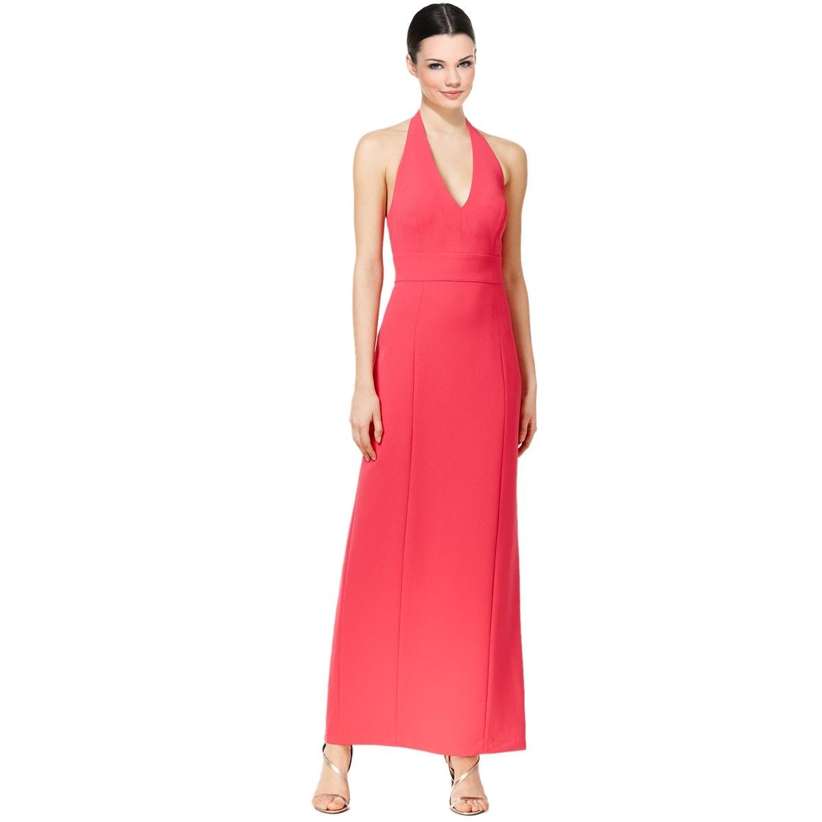 Calvin Klein Open Back Halter Neck Evening Gown Dress - Free ...