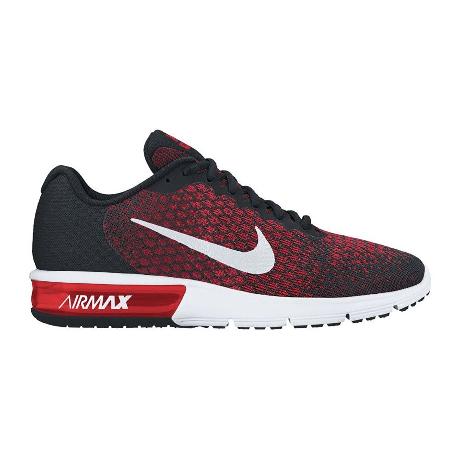 a8aeb4711f Shop Nike Air Max Sequent 2 Black/White/Team Red/University Red Men's  Running Shoes - Free Shipping Today - Overstock - 17950021