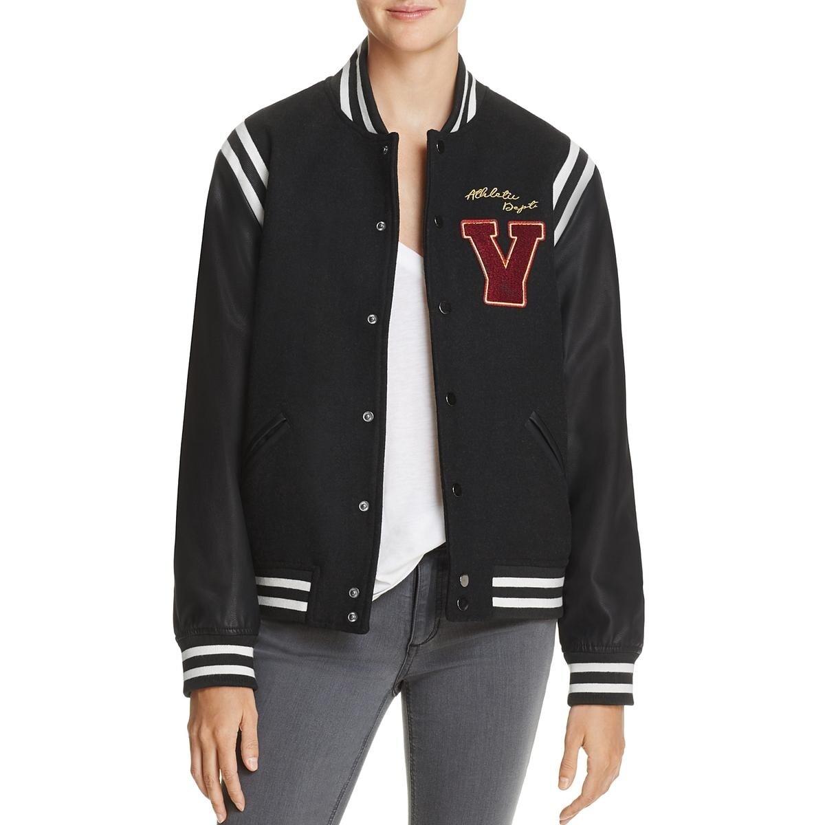 5eff6c2e2 Vintage Havana Womens Brooklyn Champs Bomber Jacket Leather Sleeves Varsity  - s