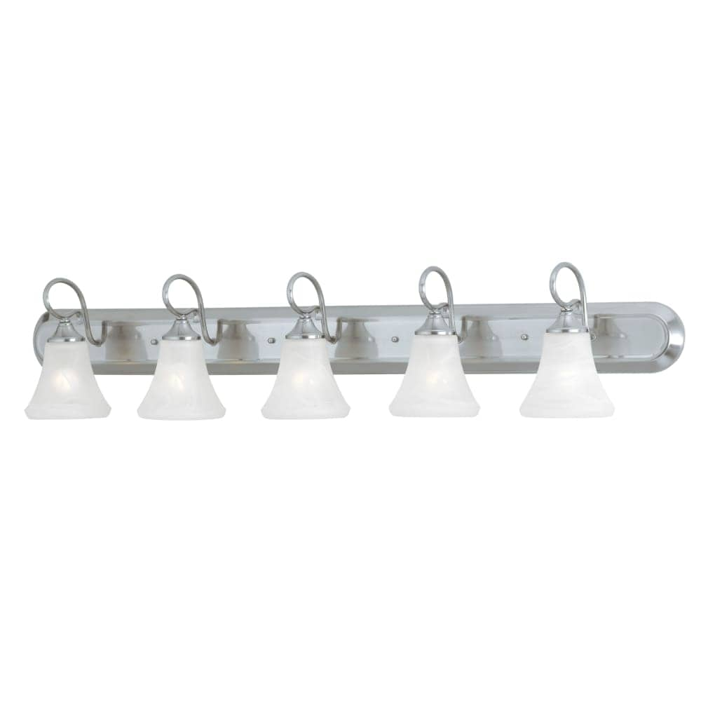 Astounding Thomas Lighting Sl7445 5 Light 48 Wide Bathroom Fixture From The Elipse Collect Download Free Architecture Designs Jebrpmadebymaigaardcom
