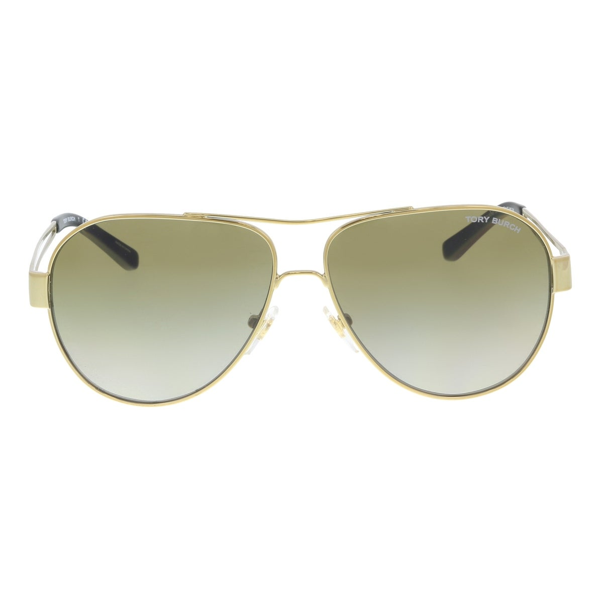 5d076446f7 Shop Tory Burch TY6060 304113 Gold Aviator Sunglasses - 55-12-140 - Free  Shipping Today - Overstock.com - 21226740