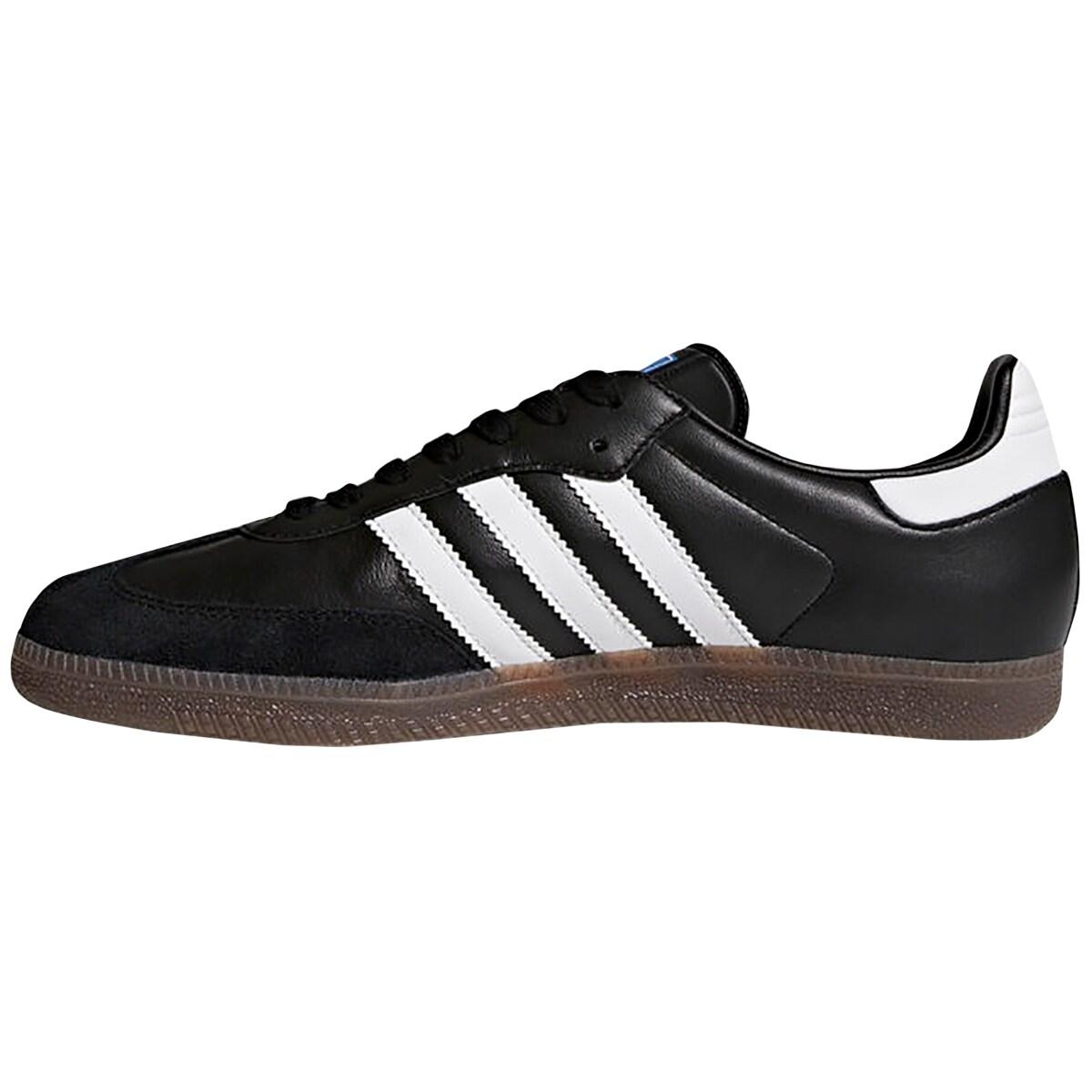 new concept 8ade9 8c3e5 Shop Adidas Originals Samba OG OrthoLite Leather Casual Shoes - Black White Gum  - Free Shipping Today - Overstock - 19813121