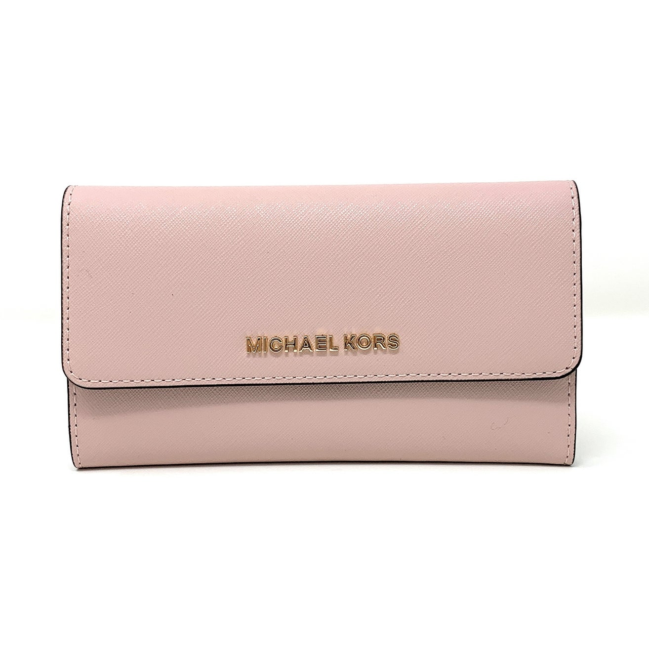 96d550f2d5bf Shop Michael Kors Jet Set Travel Large Trifold Leather Wallet 35S8GTVF7L -  Ships To Canada - Overstock - 23446690