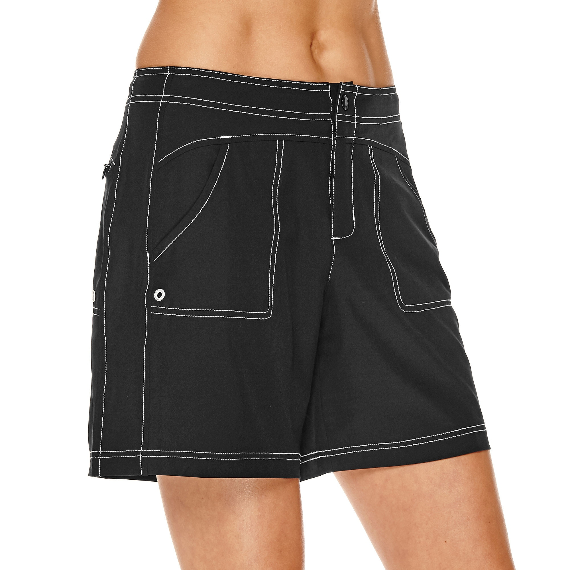 4069275efc Shop Zero Xposur Black White Women's Size 12 Paddle Activewear Shorts -  Free Shipping On Orders Over $45 - Overstock - 27315483