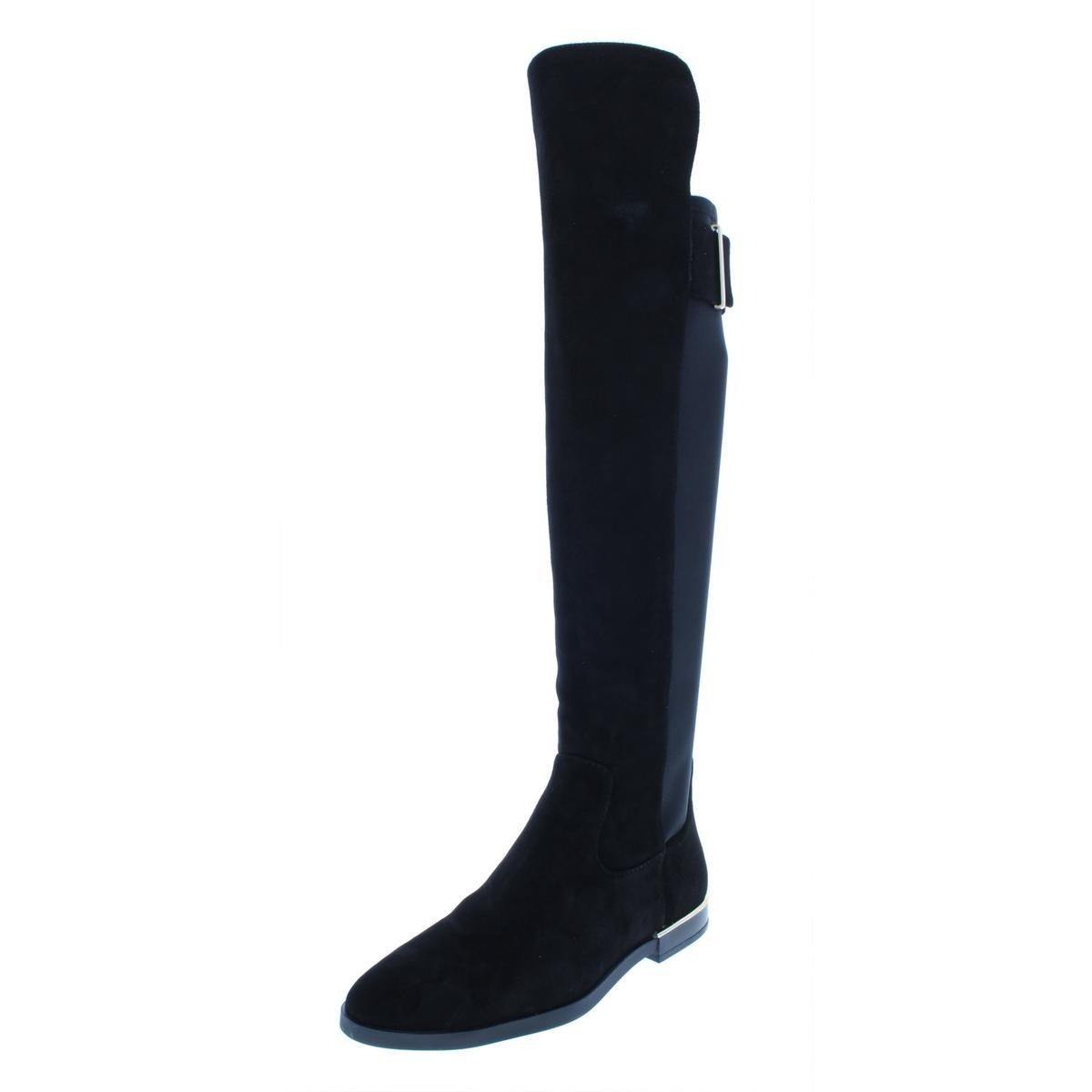 9d187ee0c177 Shop Calvin Klein Womens Priya Over-The-Knee Boots Stretch Riding Boot -  Free Shipping Today - Overstock - 22201301
