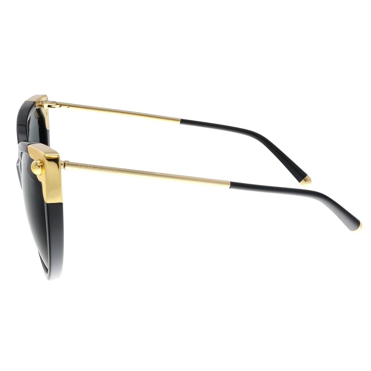 14b4fe2c625 Shop Dolce   Gabbana DG4337 501 87 Black Cat Eye Sunglasses - No Size -  Free Shipping Today - Overstock - 23595805