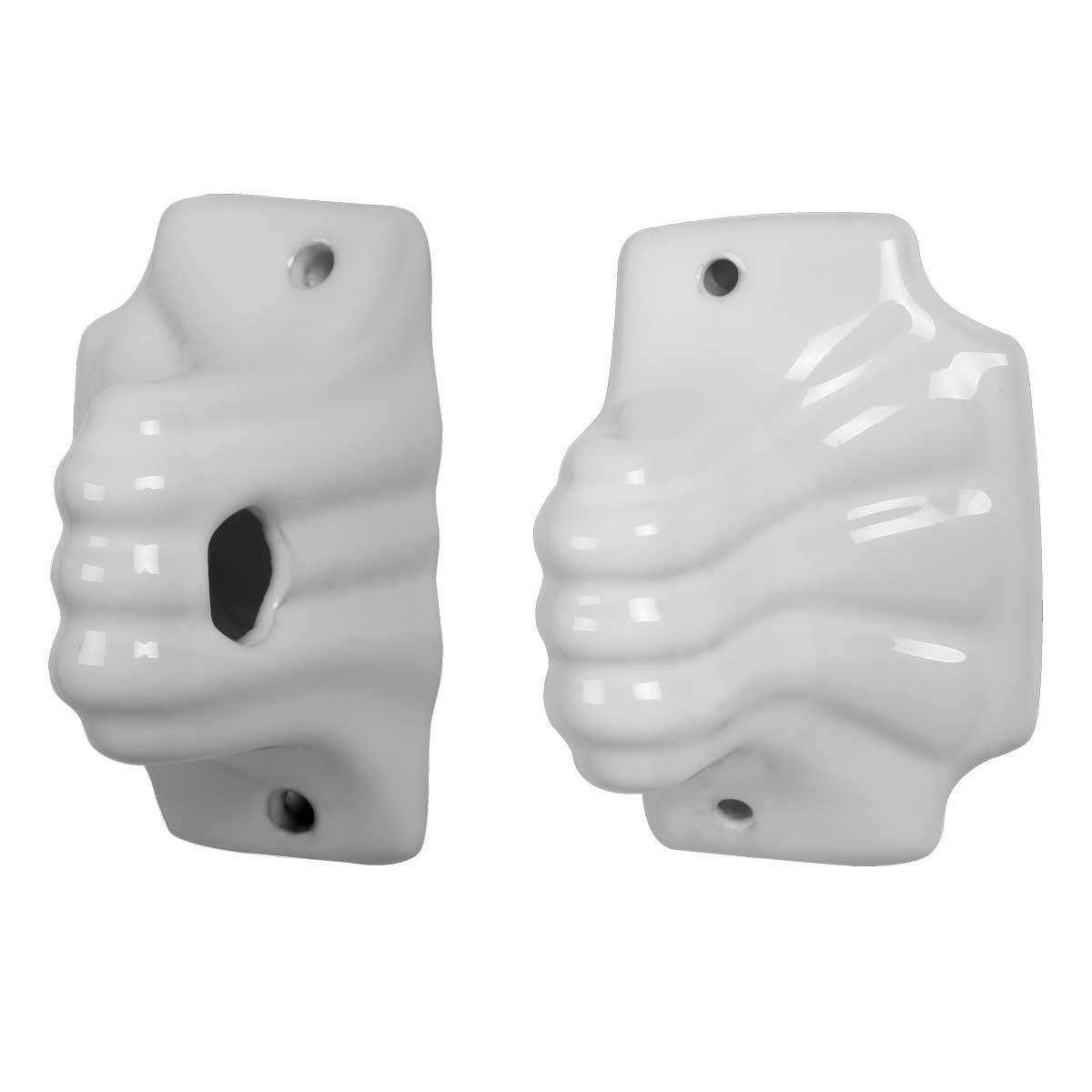 Shop Ceramic Towel Bar Holders White Porcelain Bath Accessories ...