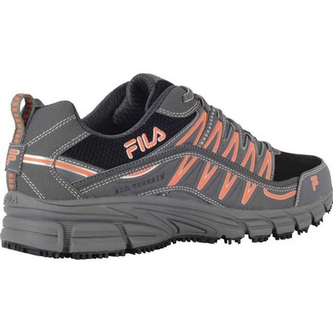 size 40 06e95 14681 Shop Fila Men s Memory Primeforce Slip-Resistant Trail Runner Castlerock  Black Vibrant Orange - On Sale - Free Shipping On Orders Over  45 -  Overstock - ...