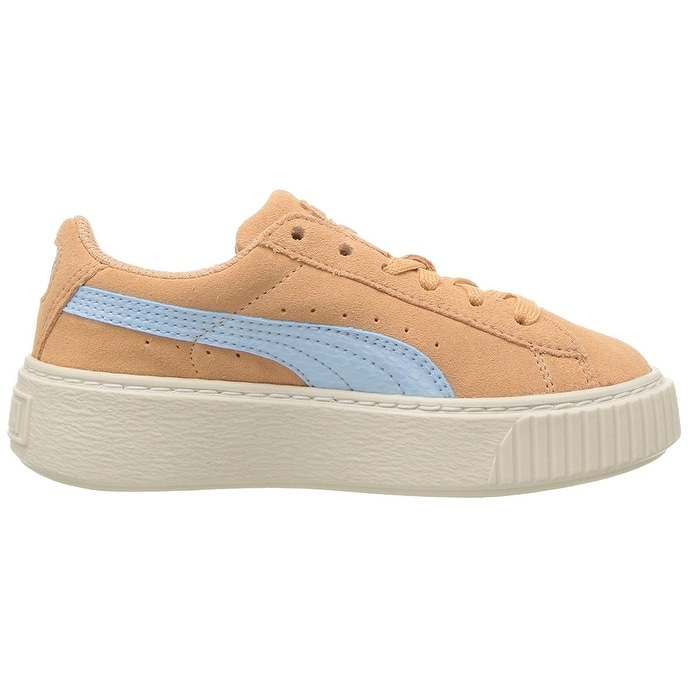 Shop Kids Puma Girls Suede Platform SNK PS Low Top Lace Up Running Sneaker  - Free Shipping On Orders Over  45 - Overstock - 23445703 5973cbfeb