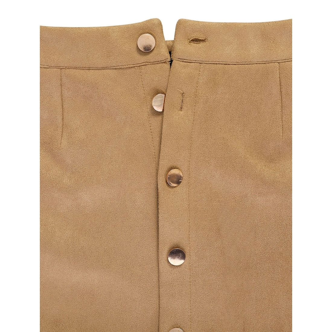 e95f56493b07 Shop Allegra K Women Button Down Business Straight Faux Suede Skirt - Brown  - On Sale - Ships To Canada - Overstock - 23577648
