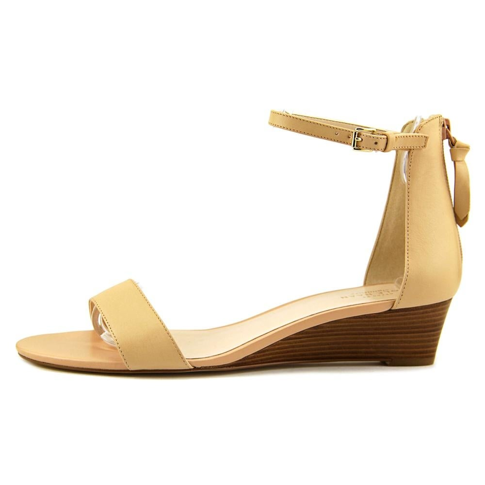 3a54e78667a Shop Cole Haan Adderly Wedge Women Open Toe Leather Nude Wedge Sandal -  Free Shipping Today - Overstock - 17782319