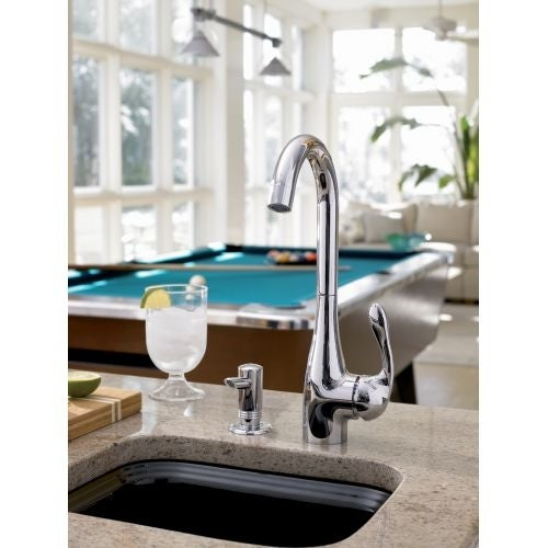 Hansgrohe 14801 Allegro E High-Arch Bar Faucet with Quick Clean ...