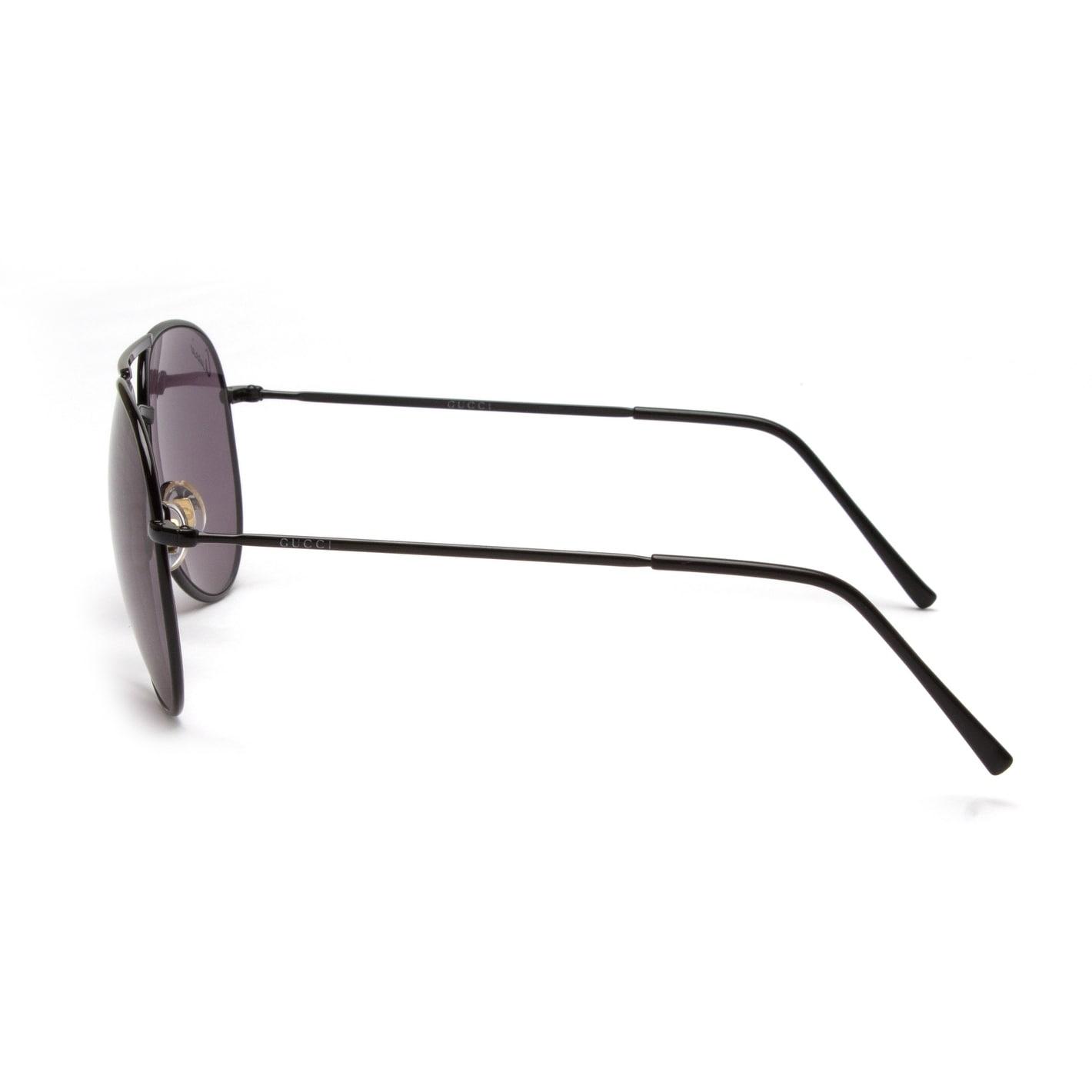 1c896de8a8a Shop Gucci Men s Women s Unisex Aviator Sunglasses 1287 S Black - Small -  Free Shipping Today - Overstock - 13473836