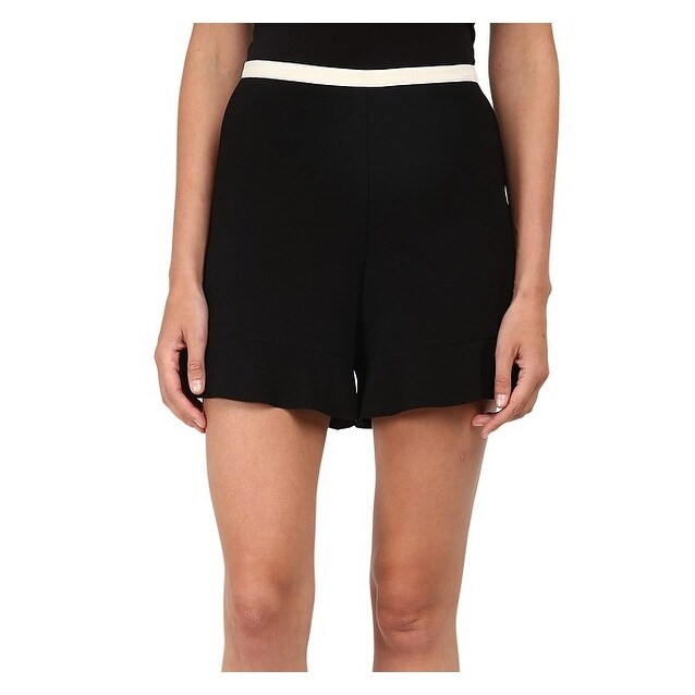 ab588773e3 See By Chloe NEW Black Beige Women's Size 6 Crepe Flare Shorts
