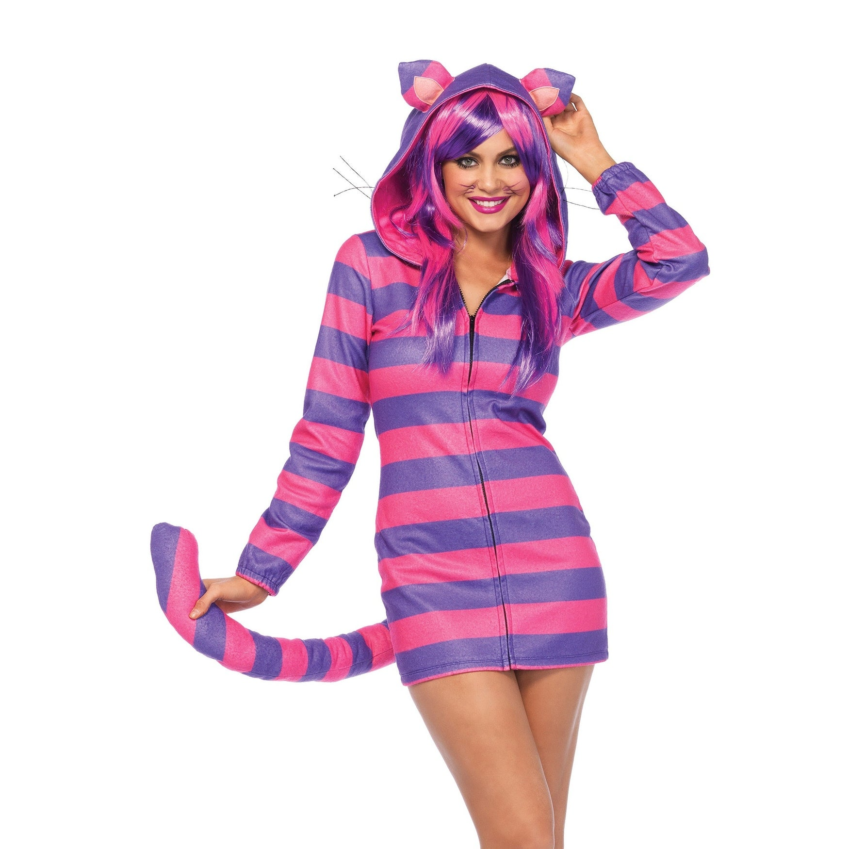 Shop Women s Cozy Cheshire Cat Costume - Free Shipping Today -  Overstock.com - 13051073 2a8a09166c