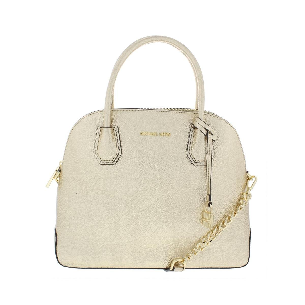 b531cad04 MICHAEL Michael Kors Womens Mercer Satchel Handbag Metallic Leather - Medium