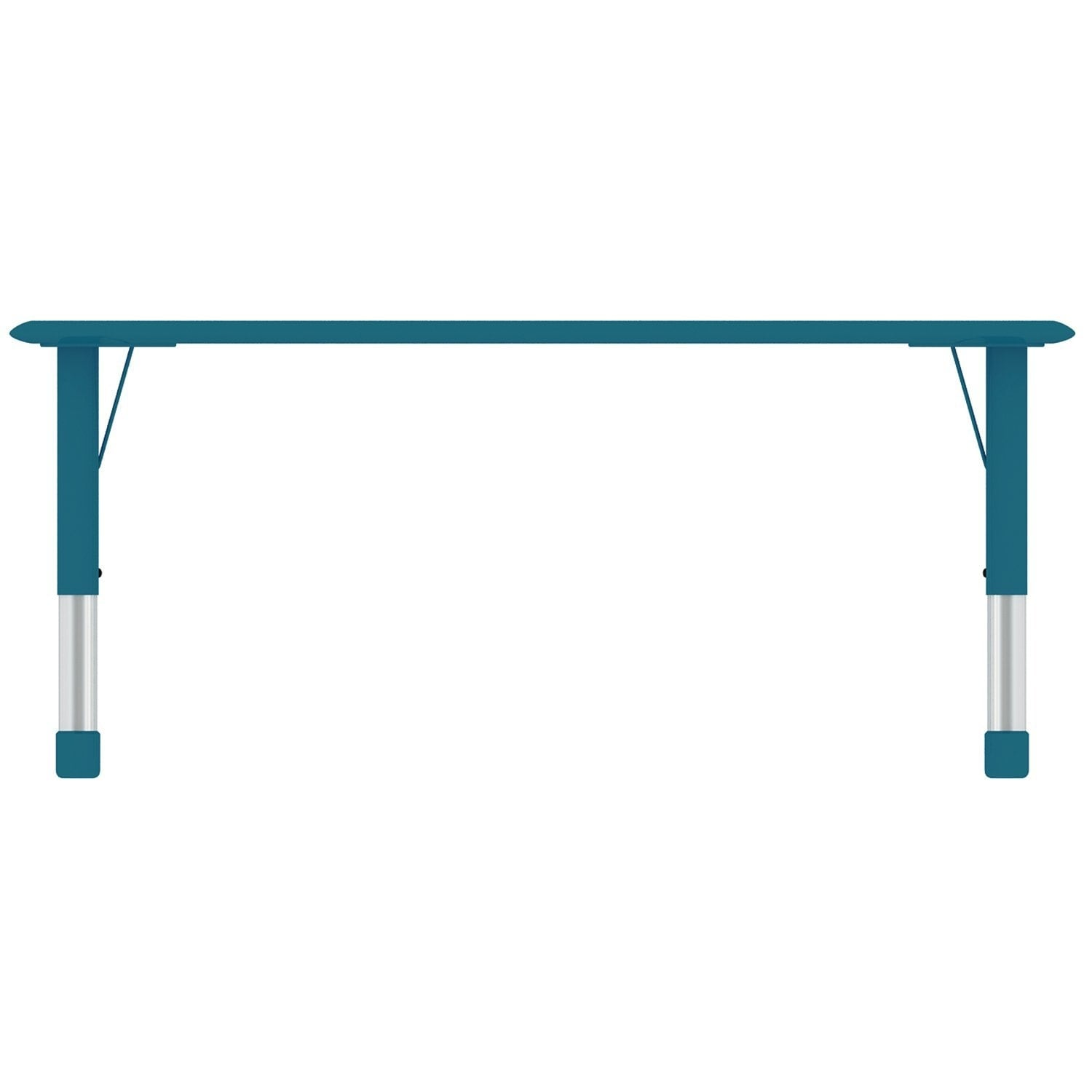 2xhome   Blue Teal Kids Table Height Adjustable Rectangle Shape Activity  Table School Table Childs Bright Colorful Table   Free Shipping Today    Overstock   ...