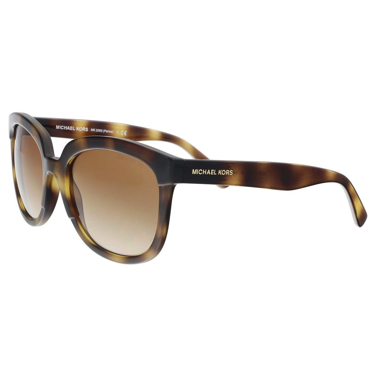 f8afbf366100 Shop Michael Kors MK2060 333613 Dark Tortoise Square Sunglasses - 55 ...